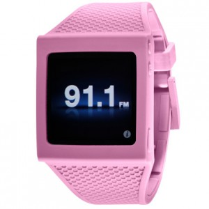 hex pink silicone watch band