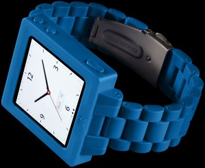 Hex blue with polycarbonate watch band